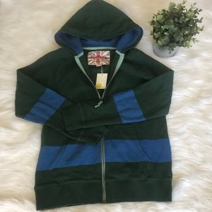 NWT Boden terry cotton hoodie